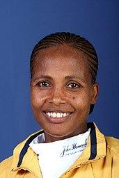 Ethiopia's Teyba Erkesso wins The Boston Marathon