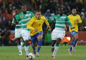 Brazil beats Ivory Coast, continues South American storm at World Cup