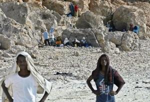 Ethiopian refugees stranded by Yemen's Saudi border