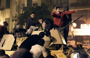 As unrest sweeps Egypt, president refuses to quit
