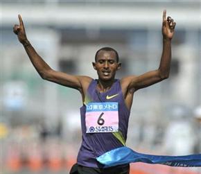Ethiopia's Mekonnen wins Tokyo marathon in Emperor's absence